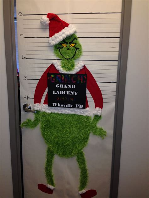 grinch christmas office door decorating contest
