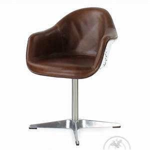Fauteuil design de bureau en cuir confortable ferdinand for Fauteuil club design contemporain