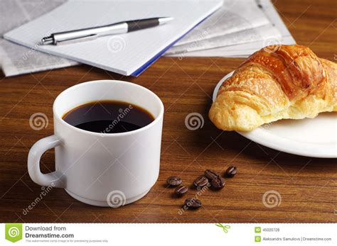Coffee, Croissant, Newspaper And Notepad Stock Photo Hot Coffee Tortoise Community Phone Number Container On Amazon Skin Game Varieties At Chick Fil A