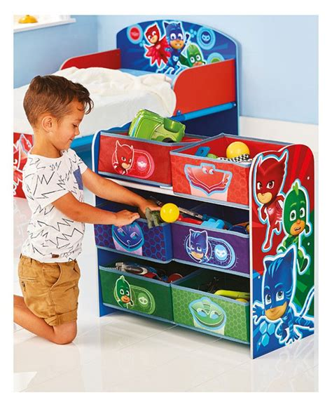 Bedroom Tidying by This Useful Pj Masks 6 Bin Storage Unit Is Designed To