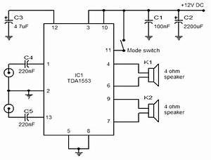 Car Stereo Amplifier Based Tda1535  U2013 Circuit Wiring Diagrams