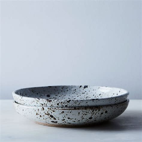 ceramic dinnerware bowl handmade speckled plates tableware cool basic strategist salad ceramics shallow melina hammer food52 ask edit follow items