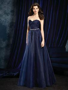size 10 navy sapphire by alfred angelo 8107l organza With sapphire wedding dress