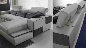 Canape Angle Cuir Blanc : canap d 39 angle r versible en cuir pas cher canap angle en cuir blanc ~ Teatrodelosmanantiales.com Idées de Décoration