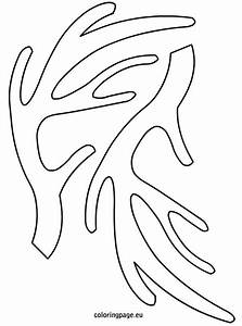 Free coloring pages of antlers template for Template for reindeer antlers