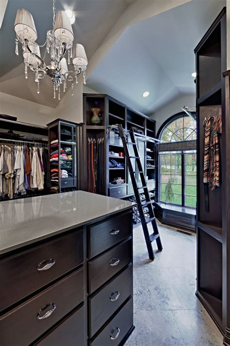 Walk In Closet Library by Inspiring Ways Of Using Library Ladders In The House