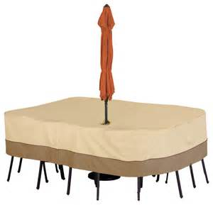 classic accessories patio table cover with umbrella hole