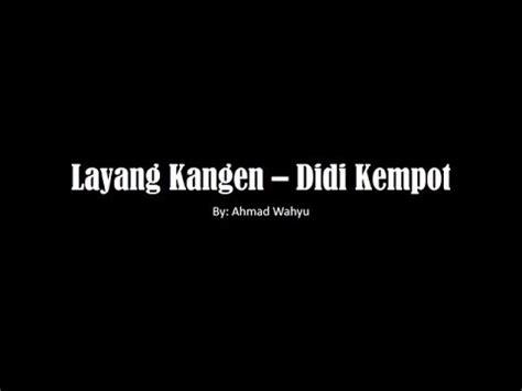 layang kangen didi kempot versi raggae full lyrics youtube