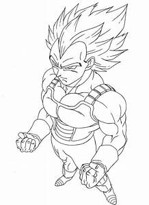 Vegeta Super Saiyan 3 - Free Colouring Pages