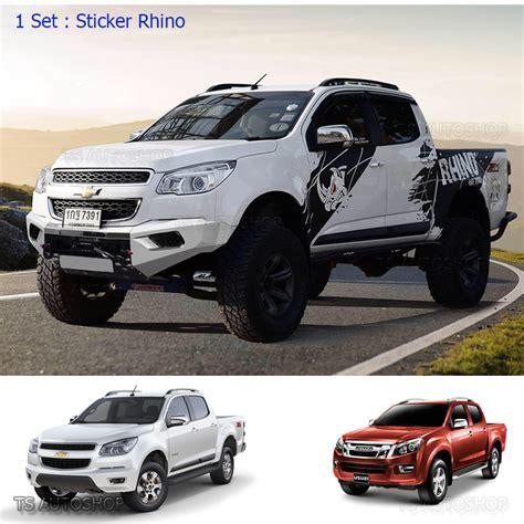 colorado max isuzu holden d max colorado 2012 2017 matte black rhino sticker off road vinyl ebay