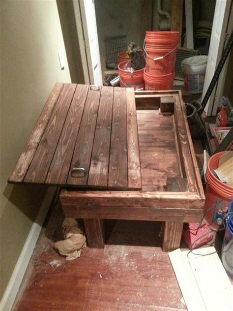 diy rustic pallet coffee table  secret stash pallet