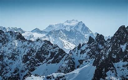 Mountains Alps Peak Snowy Mountain Range Desktop