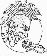 Coloring Rock Mohawk Roll Singer Printable Rockstar Symbols Symbol Birthday Sheets Disco Kookerkids Library Clipart Birthdayprintable sketch template