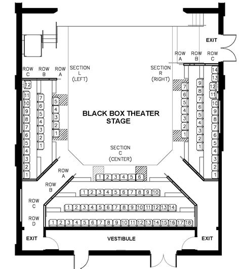 Seating Charts Theatre Arts Crosse
