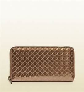 gucci shiny microssima leather travel document wallet in With large travel document wallet
