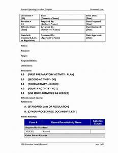 Standard Operating Procedure Manual Template