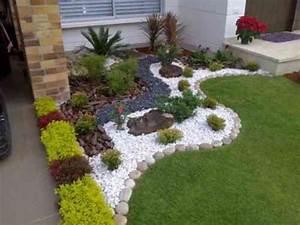 Jardin Paysager Exemple : mod le de jardin avec galets en 26 exemples inspirants jardinage pinterest jardins modele ~ Melissatoandfro.com Idées de Décoration
