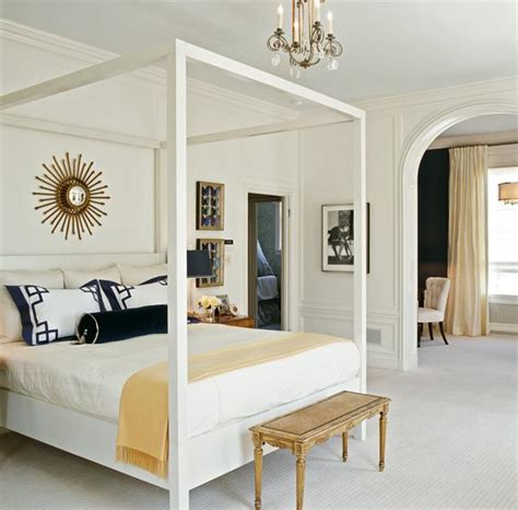 White Canopy Bed  Transitional  Bedroom  Tish Key