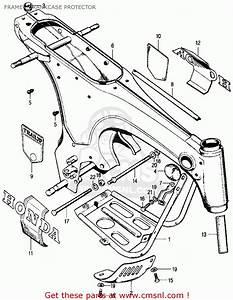 Honda Ct70 Trail 70 K0 1969 Usa Frame    Crankcase