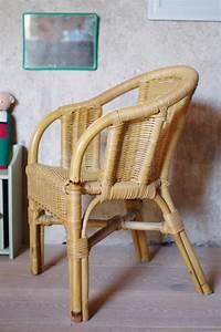 Chaise Enfant Rotin : fauteuil rotin enfant vintage les vieilles choses ~ Teatrodelosmanantiales.com Idées de Décoration