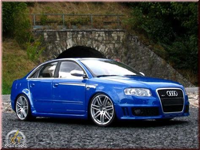 Audi Rs4 by Audi Rs4 Blue Kit Suspension Rabaissee Minichs Diecast