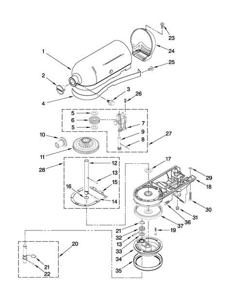 Kitchenaid Mixer Repair Parts List Wow Blog