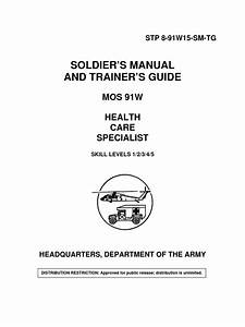 91w Soldiers Manual And Trainers Guide