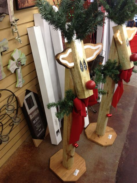 reindeer  landscape timbers wooden christmas