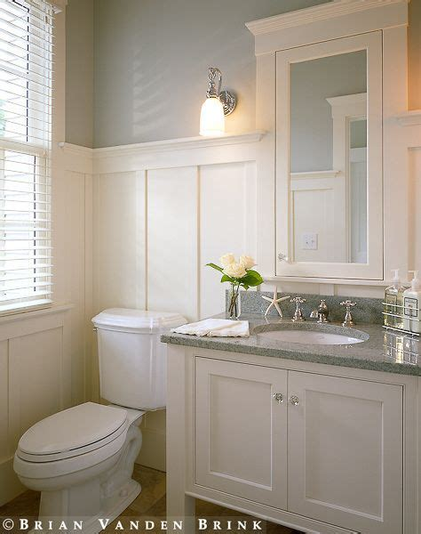 Bathroom Paneling Ideas by Small Bathroom With The Board And Batten Walls