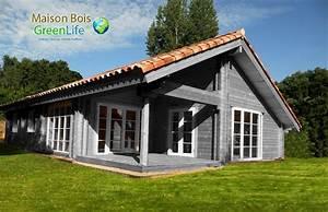 maison bois en kit peinte maison bois greenlife With maison peinte en gris