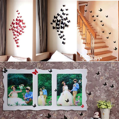 pcs  wall sticker decals butterfly stickers home