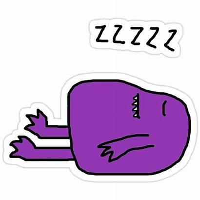Monster Sleepy Tee Felgate Alexandra Stickers Redbubble