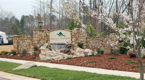 subdivision entrance monuments outdoor contracting