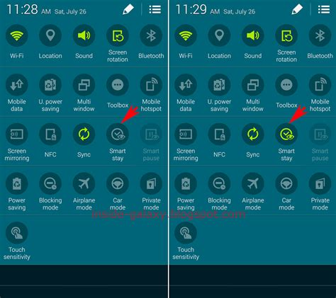 icons at top samsung galaxy s5 how to enable and use smart stay in