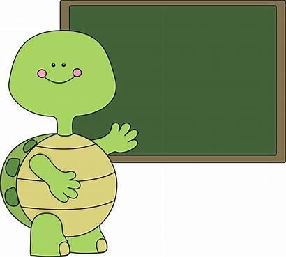 Turtle Clipart Chalkboard Clip Boy Graphics Cliparts