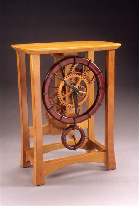 keith chambers wooden gear clock wood pinterest