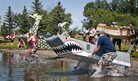 Cardboard Boat Buy by Cardboard Boat Regatta Makes A Splash News