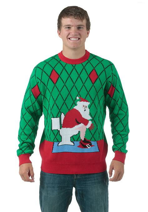 igly sweater toilet santa sweater