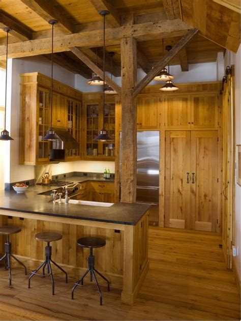 Rustic Log Cabin Kitchen Ideas by Barn Kitchen Ideas Pictures Remodel And Decor