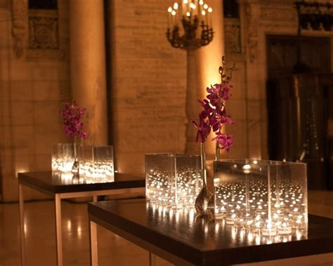 candle lighting nyc contemporary fall wedding at the new york library