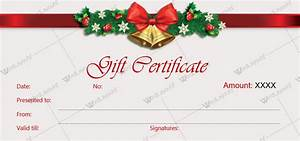 holiday gift certificate template free printable - christmas gift certificate templates for word editable