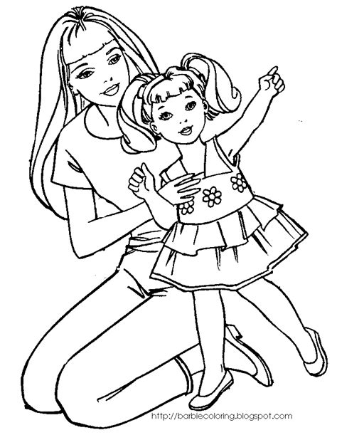 barbie coloring pages coloring pages  barbie  kelly