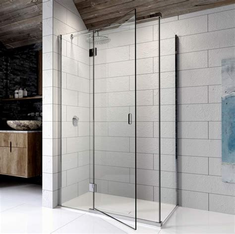 At Shower by Kudos 8 Hinged Shower Door For Corner Uk Bathrooms