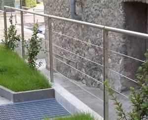 garde corps d39exterieur en inox en cable pour With modele escalier exterieur terrasse