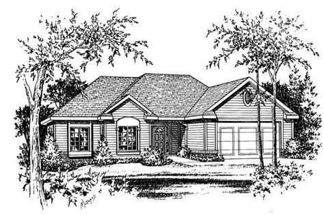house plan    bedroom  sq ft ranch traditional home tpc