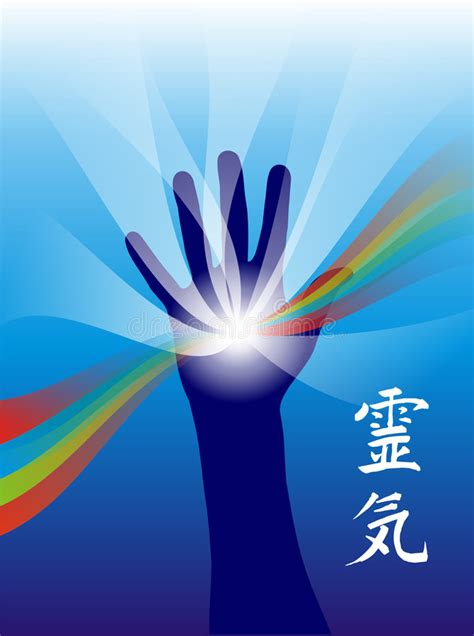 reiki healing hand royalty  stock photography image