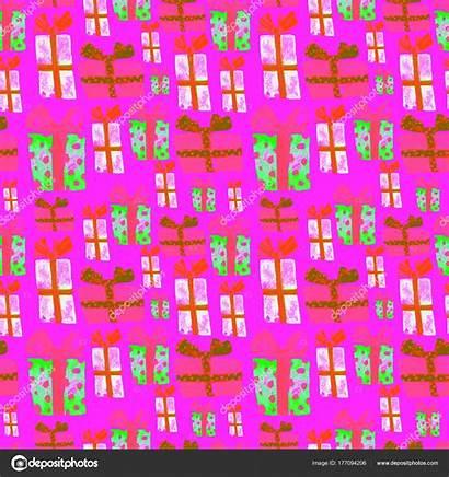 Pattern Birthday Seamless Drawn Wrapper Repeatable Textile
