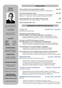 resume en francais prepa modele cv classe prepa cv anonyme