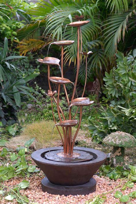 outdoor garden fountains ideas lotus outdoor garden fountain ideas 1614 hostelgarden net