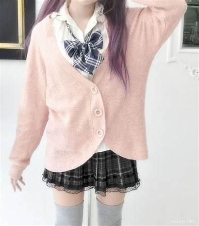 Uniform Japanese Kawaii Korean Cardigan Outfits Cutest